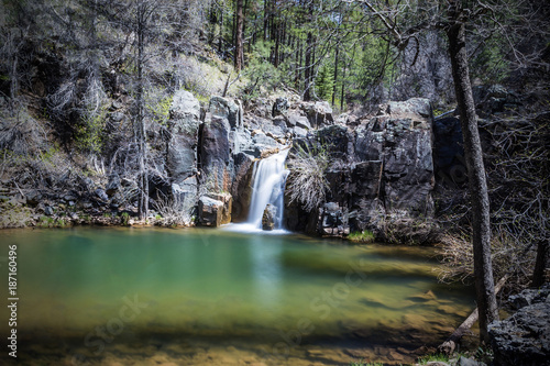 Canvas Prints Forest river Gordon Creek Falls on the Mongollon Rim in Arizona
