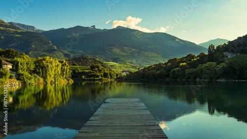 Fotografie, Obraz Lake at sunrise