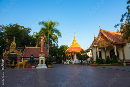 Wat Si Muang is one of Vientiane's most popular sites of worship, and offers a fascinating insight into how old animist beliefs have blended seamlessly with Theravada Buddhism Canvas Print