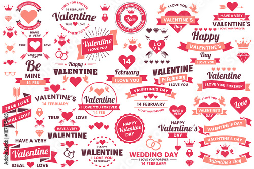 Fotografie, Obraz  Valentine template banner Vector background for banner