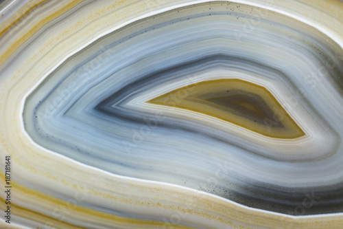 Photo Macro view on agate layers.