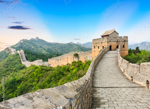 Foto op Canvas Chinese Muur The famous Great Wall of China,jinshanling