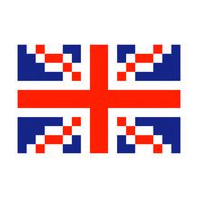 Great Britain Pixel Flag Art C...
