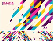 Modern Diagonal Abstract Backg...