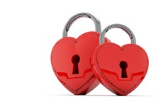 Heart Shaped Padlock. Valentin...