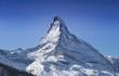 canvas print picture - Zermatt Matterhorn sonnig Schnee