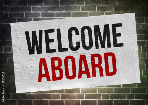 Welcome aboard - poster concept Wallpaper Mural