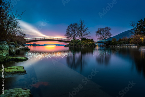 Fotomural  Nacht in Bielersee - Schweiz