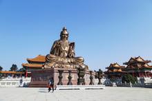 Laozi Statue In Yuanxuan Taois...