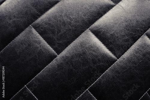Black Leather Sofa Texture Background