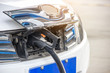 Charging the car with a power cord,Energy saving for the future