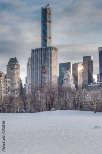 Fotografía  Sheep Meadow in the Winter, NYC