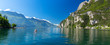 canvas print picture - Summer view over of lake Garda in Italy