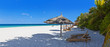 canvas print picture - Schöner Maledivenstrand im Panoramaformat