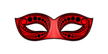 Carnaval Masque Rouge Ornement 3