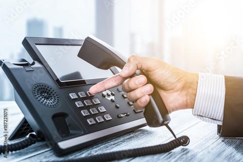 Fotografie, Obraz Communication support, call center and customer service help desk