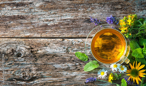 Staande foto Thee Cup of herbal tea