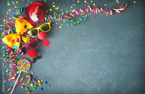 Tuinposter Carnaval Colorful birthday or carnival background