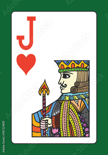 Fotobehang Restaurant Jack of hearts playing card