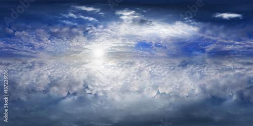 Fototapeta premium Panorama nad chmurami pełne 360 stopni