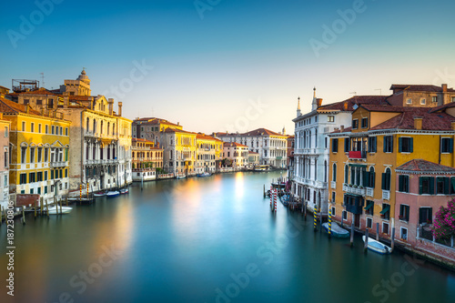 Fototapety, obrazy: Venice grand canal or Canal Grande, view from Rialto bridge. Italy