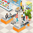 Isometric Holiday Shopping Concept