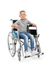 Little Boy In Wheelchair On Wh...