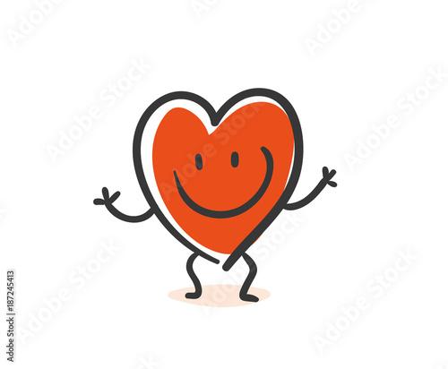 Heart Cartoon Wallpaper Mural