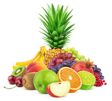 Assortment Of Exotic Fruits Is...