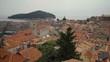 Still long shot of Old Town in Dubrovnik