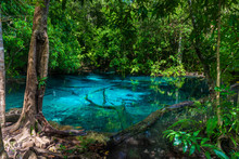 A Picturesque Blue Lake In The...