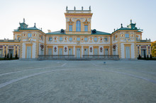 Wilanow Palace Warsaw Poland October 2014 Palace With Garden Exterior View Around