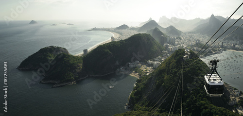 Amazing panorama of Rio de Janeiro from Sugarloaf mountain, Brazil