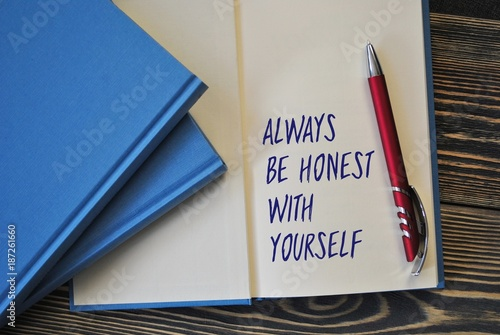 Photo Always be honest with yourself