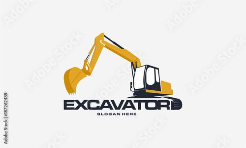 Fotografia Excavator logo designs concept vector illustration