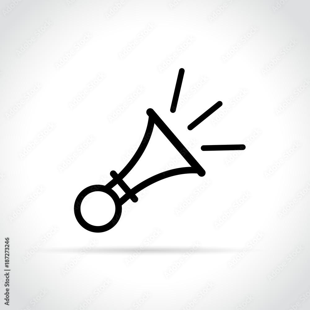 Fototapeta horn icon on white background