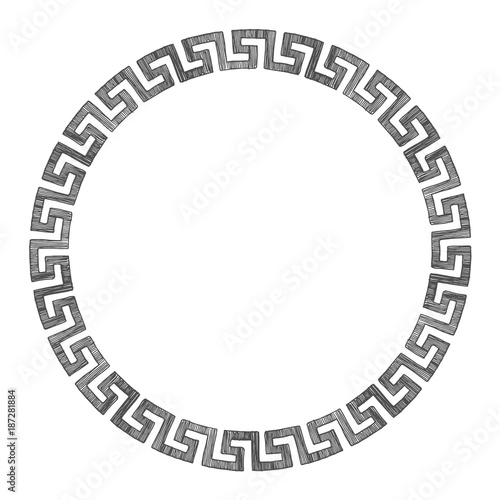 Ancient Greek round ornament.