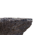 Rocky Cliff Isolated On A Whit...