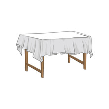 Empty Square Wooden Table With...