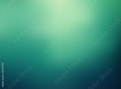 Obraz Abstract green color gradient blurred background. - fototapety do salonu