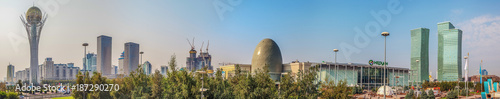 Photo ASTANA, KAZAKHSTAN - JULY 7, 2016: Morning panorama of the center of the capital