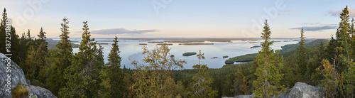 Foto auf Gartenposter Himmelblau Panoramic landscape view. Koli National Park. Pielinen area. Finland