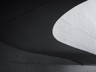 Architecture details Cement wall Modern building Futuristic Curve Space Abstract background