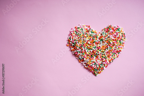 candy sprinkles in form of heart Fototapet