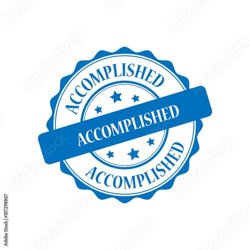 Fotografía  Accomplished blue stamp illustration