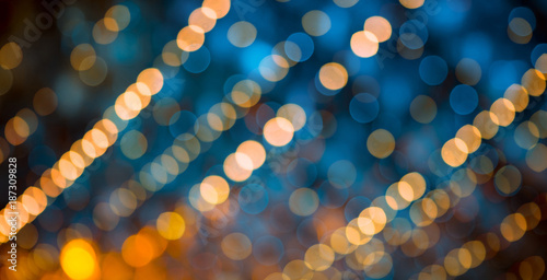 Vászonkép Beautiful abstract Background with bokeh lights.