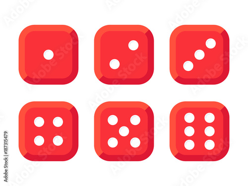 Craps. Red dice vector illustration фототапет