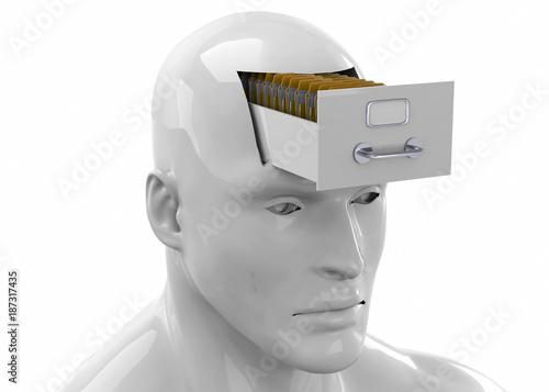 Memories in the Brain -3D Fotobehang