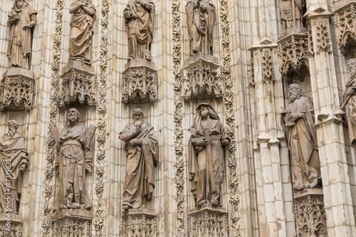 Entrance door of Sevilla Cathedral. Sevilla, Spain Wallpaper Mural