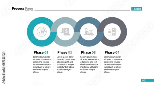 Photo Four Phases Process Slide Template
